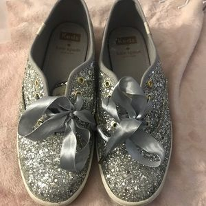 Kate Spade by Keds Silver Glitter Shoes